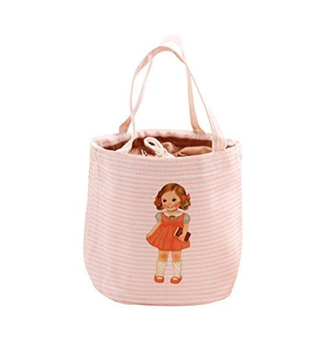 (Pink)WaterProof Large Capacity Lunch Bag For Children,Heat Retaining