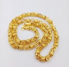 22K AUTHENTIC YELLOW GOLD UNIQUE LINK CHAIN FOR MEN WOMEN 24 INCH 30.950 GM - $2,820.56