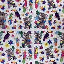 HTF Rare! Vintage Lisa Frank Koala Toucan Tropical S665 HAWAIIAN SHIRT LOL image 2