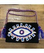 Authentic 100% Wayuu Crossbody Clutch Bag Medium Size Evil Eye Third Eye... - $49.50