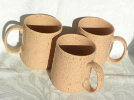 "3 Vintage Pink Speckled Ceramic ""The Love Mug"" Coffee Mugs - $12.99"