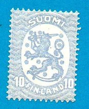 Finland Postage Stamp (1921) 10p Republic Coat of Arms (mint) Scott Cat ... - $2.99