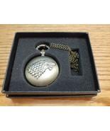 Alloy Game of Thrones Stark Direwolf Quartz Pocket Watch w/Box  - $9.85