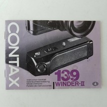 Contax 139 Wander-II Instruction Booklet - Kyocera Corporation - $7.99