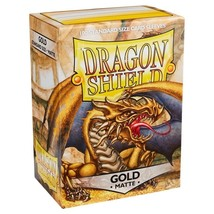 Dragon Shield Matte Gold Card Protector Sleeves 100ct MTG Pokemon ATM11006 - $11.99