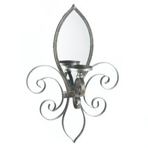 Fleur-de-lis Mirrored Wall Sconce - $38.99