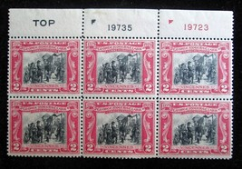 2c 1929 Scott 651 George Rogers Clark 6 Stamp Plate Block USPS Mint VF O... - $17.41
