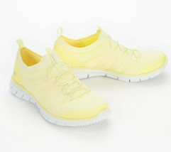 Skechers Stretch-Knit Bungee Slip-On Sneakers - Glider Tuneful Yellow 9.5 M - $49.49