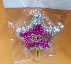 Novelty Inc Pink/SilverTinsel Merry Christmas Tree Topper#XM-638PS UPC:7... - $7.87