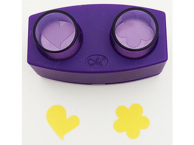 Creative Memories Mini Heart and Flower Punch Set, Two Punches in One