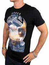 NEW NWT DIESEL INDUSTRY LOGO MEN'S DESIGNER PREMIUM COTTON T-SHIRT TEE BLACK image 1