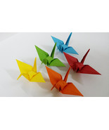 100 Mixed Colorful Origami Cranes - $15.00
