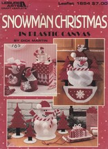 Snowman Christmas, Leisure Arts Plastic Canvas Patterns 1654 Centerpiece... - $6.95