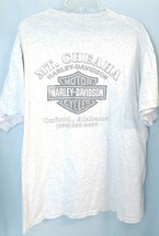 DISTRESSED HARLEY DAVIDSON MOTORCYCLE TSHIRT MT CHEAHA OXFORD AL XL Gray... - $17.66