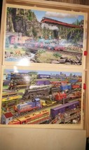 Shure Vintage 2 pictures train Puzzle lot - $27.67