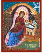 """The Nativity of Christ Icon - 11"""" x 14"""" Wooden Plaques With Lumina Gold - $81.95"""
