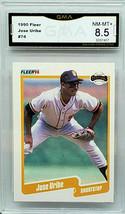Hot Graded 8.5 Near MINT-MINT+ NM-MT+ Jose Uribe 1990 Fleer #74 Giants Baseball - $129.95
