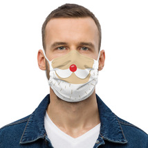 Face mask Funny Santa claus mustache Christmas image 4