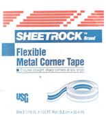 """U S Gypsum  2 1/16"""" x 100' Metal Flex Corner Tape - $24.95"""