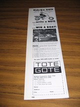 1963 Print Ad Tote Gote Motorcycle & Hydro Swift Skylark 15 Boats - $9.78