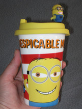 DESPICABLE ME 2 Minion Ceramic Sipper Hot Drink Straw Cup Soft Silicone ... - $10.99