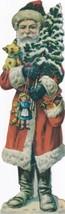 """(2) Vintage Santa Hallmark #35XTM 264-4 Cardboard Decoration 8"""" x 2 1/2"""" - $4.00"""