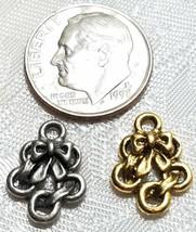 FIVE GOLDEN RINGS FINE PEWTER PENDANT CHARM image 2