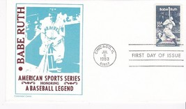 BABE RUTH #2046 CHICAGO, IL JULY 6, 1983 CENTENNIAL COVERS CACHET D-267 - ₹217.21 INR