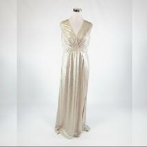 Metallic gold textured shimmery ANNE KLEIN stretch sleeveless maxi dress 8 - $79.99