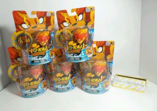 Hasbro Yo-Kai Watch Blazion Feulion Flamileon Fogoleo Party Pack of 5 NIB