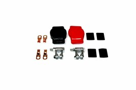 Military Spec Battery Terminal Top Post Kit w/ Covers Copper Lugs & Heat Shrink