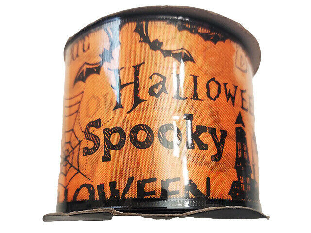 "Momentum Halloween 2.5"" Wire Ribbon, 3 Feet"