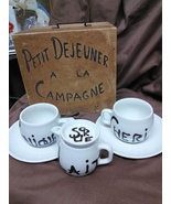 Porcelaine De Paris France Vintage Breakfast in the Country Coffee Set - $75.00