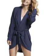 Yummie Women's Slub Knit Lounge Cocoon Wrap Cardigan, Mood Indigo, Medium  - $29.69