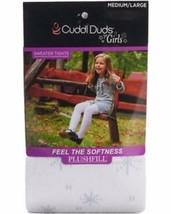 CUDDL DUDS Girls Snowflake Sweater Tights White Small - Medium - Large - $7.97