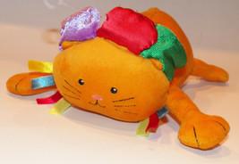 Manhattan Toy Orange Cat Plush Rattle Baby Toddler Toy Stuffed Animal - $14.80