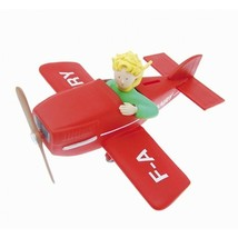 The Little Prince in airplane plastic money bank Plastoy