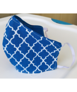 Hintohush Blue and white face mask/ face cover cotton Adult size - £4.18 GBP