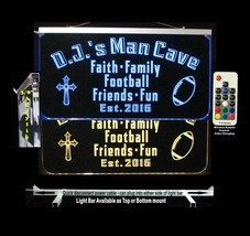 Personalized Christian LED Man Cave Sign- Garage Sign, Bar sign, Gift fo... - $96.03+