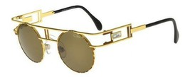 New Authentic Cazal 958 033 46mm Gold Frame Brown Gradient Lenses Sungla... - $339.57