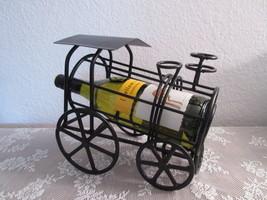Black Wrought Iron Train Wine Bottle Holder - $33.00