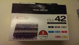 Genuine Canon CLI-42 (8 Colors BK, GY, LGY, C, PC, M, PM, Y)  for PIXMA ... - $117.95