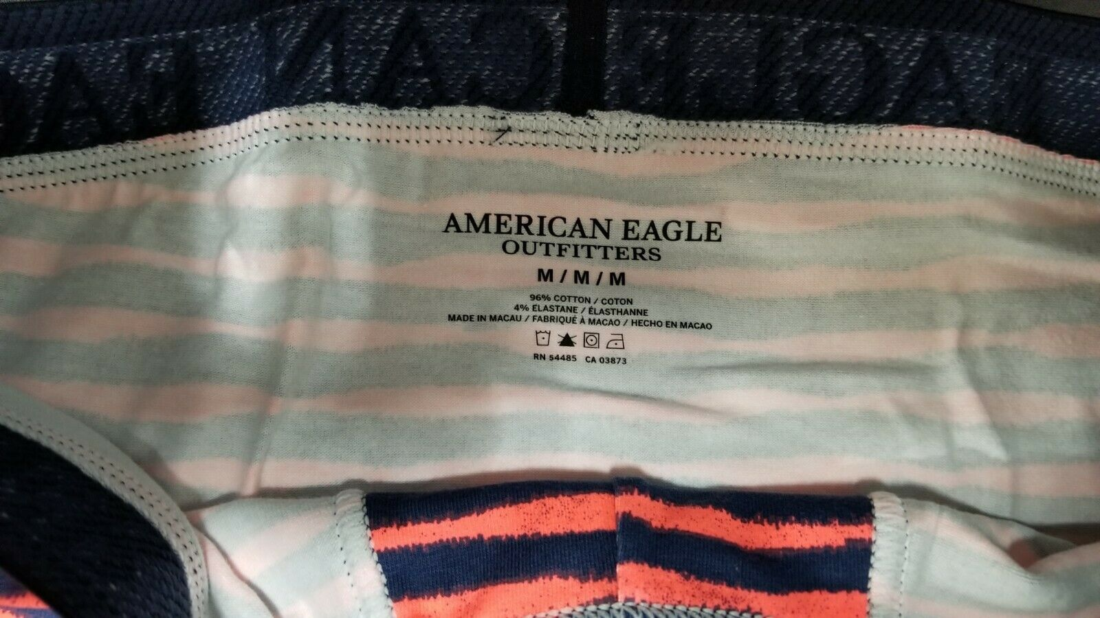 NEW AE Men's Low Rise Cotton Stretch Boxer Trunk Striped American Eagle Medium