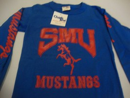 Vintage SMU Mustangs 80's Chalk Line Long Sleeve T Shirt Kid's Size 18-20 - $15.83