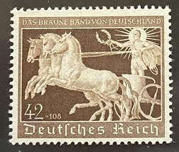 1940 Chariot of Antiquity WWII Germany Postage Stamp Catalog Number B173 MNH