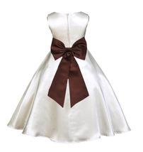 Ekidsbridal Ivory A-line Satin Flower Girl Dresses Special Occasions Bal... - $39.99