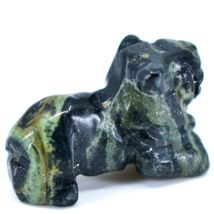 Kambaba Jasper Gemstone Tiny Miniature Lion Stone Figurine Hand Carved in China image 4