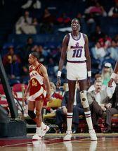Manute Bol Spud Webb CTK Vintage 16X20 Color Basketball Memorabilia Photo - $29.95