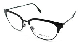 Burberry Rx Eyeglasses Frames BE 1334 1001 52-17-140 Black Made in Italy - $118.19