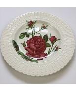 Vintage Cauldon England Rose Flower Botanical Series 2475 Embossed Trim ... - $26.10